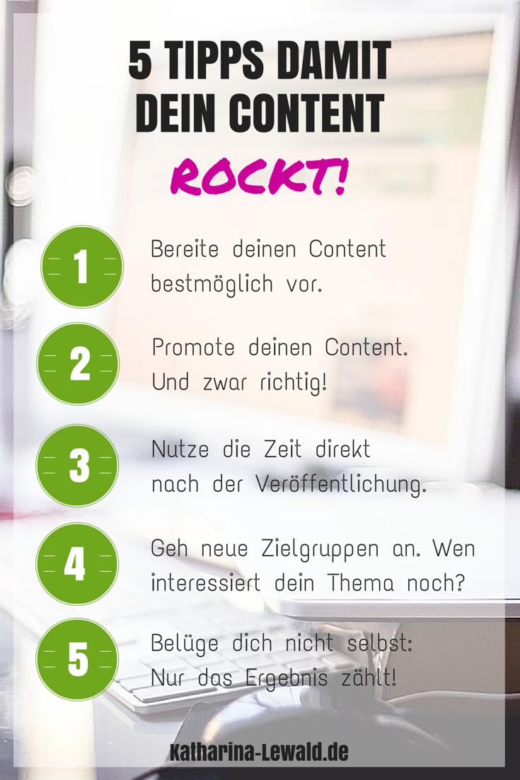 5 Tipps damit dein Content rockt, von Katharina Lewald