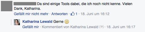 Facebook-Post-Kommentar