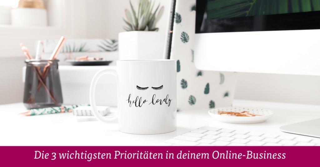 Prioritäten Online Business