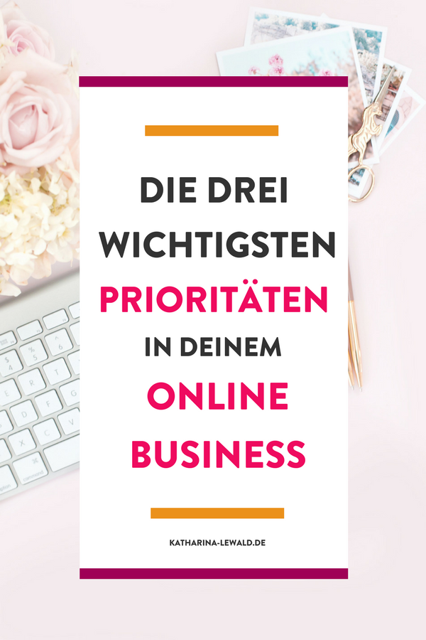 Prioritäten Online Business