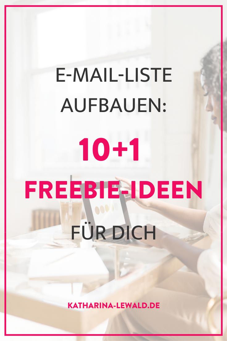 E-Mail-Liste aufbauen: 10+1 Freebie-Ideen für dich