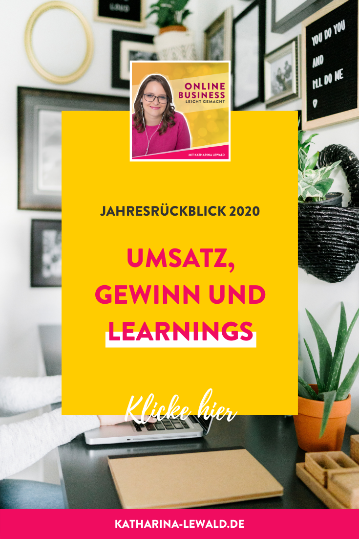 Jahresrückblick 2020: Umsatz, Gewinn und Learnings