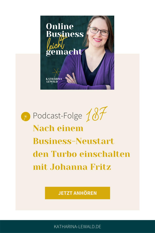 Nach einem Business-Neustart den Turbo einschalten mit Johanna Fritz