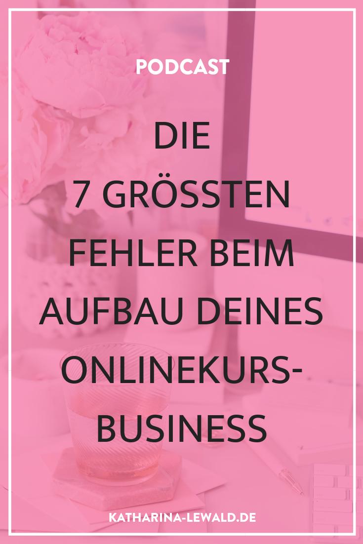 Die 7 größten Fehler beim Aufbau deines Onlinekurs-Business