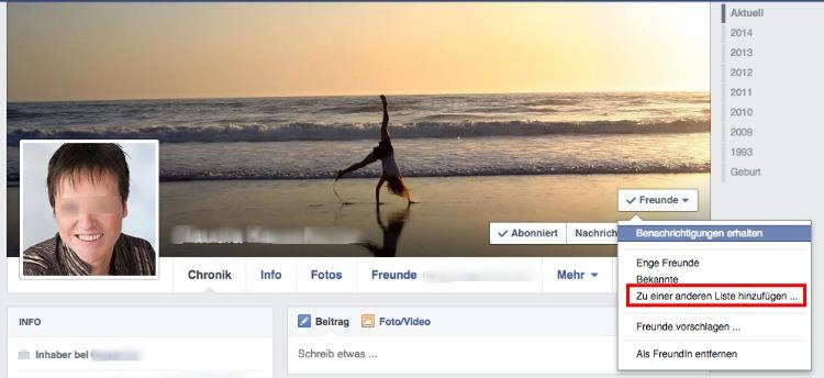 Facebook-Listen anlegen