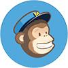 Logo von Mailchimp in blau