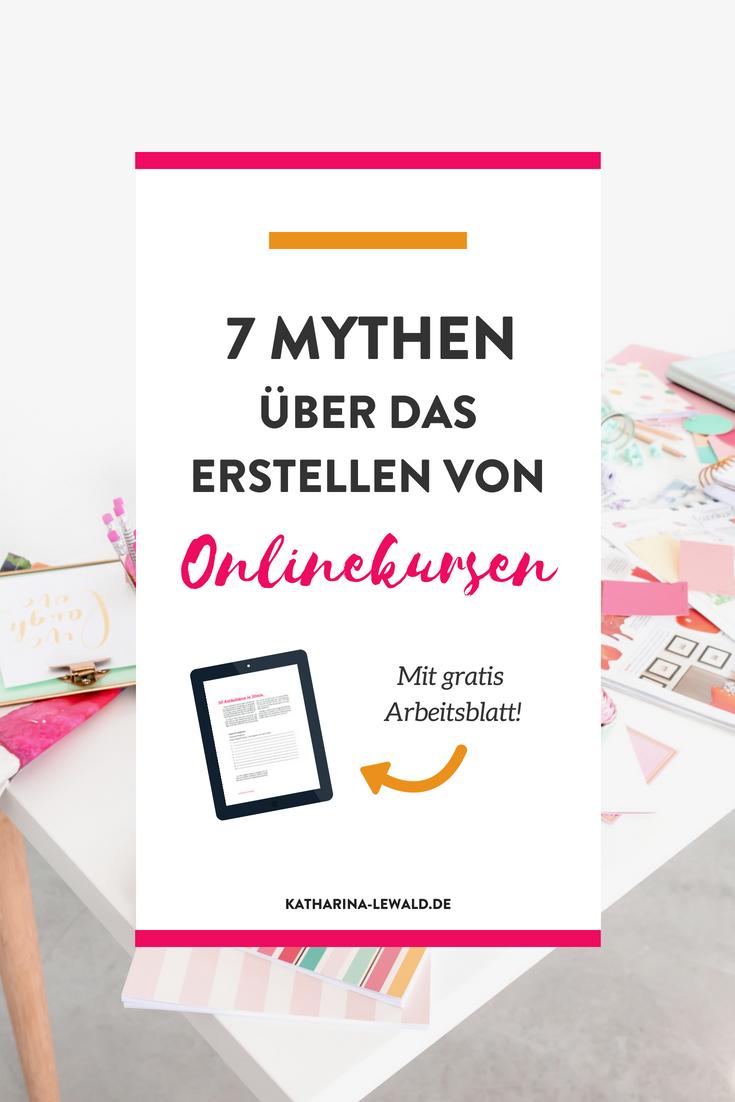 Du willst einen Onlinekurs erstellen? Dann fall nicht auf diese sieben Mythen rein!