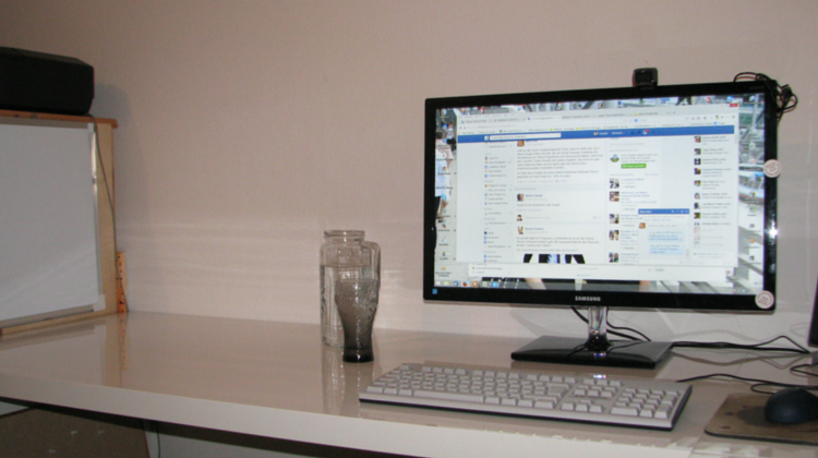 Schreibtisch nachher
