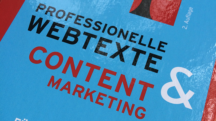 "Cover des Buches ""Professionelle Webtexte und Content Marketing"""