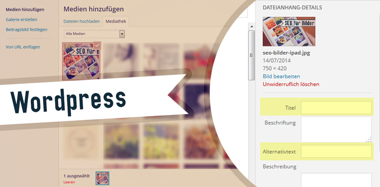 Die Attribute title und alt bei WordPress
